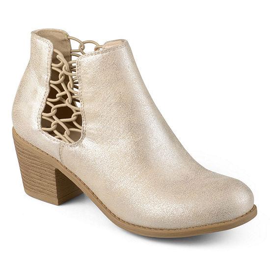 Journee Collection Womens Talise Booties Block Heel