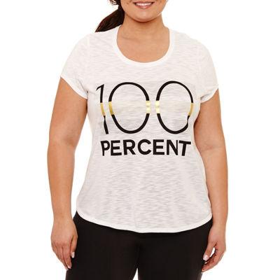 Xersion Short SleeveRound Neck Graphic T-Shirt