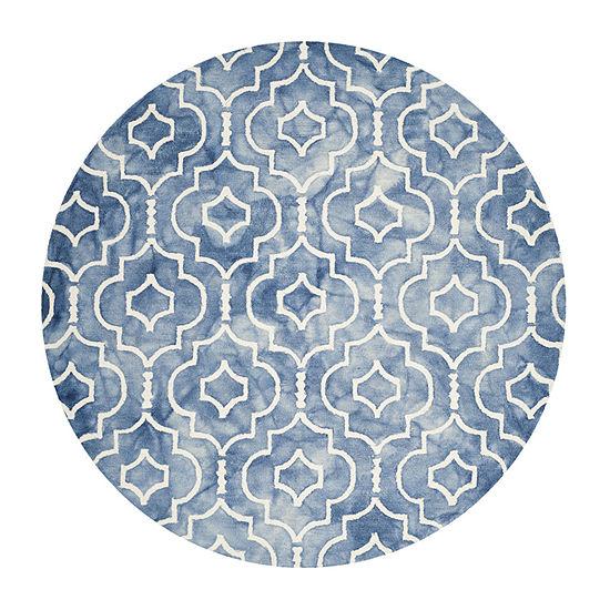 Safavieh Dip Dye Collection Devnet Geometric Round Area Rug