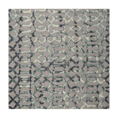 Safavieh Dip Dye Collection Diamond Geometric Square Area Rug
