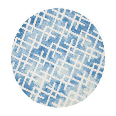 Safavieh Dip Dye Collection Earleen Geometric Round Area Rug