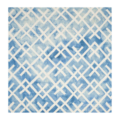 Safavieh Dip Dye Collection Earleen Geometric Square Area Rug