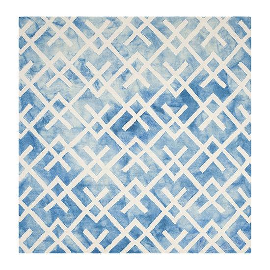 Safavieh Dip Dye Collection Earleen Geometric Square Area Rug