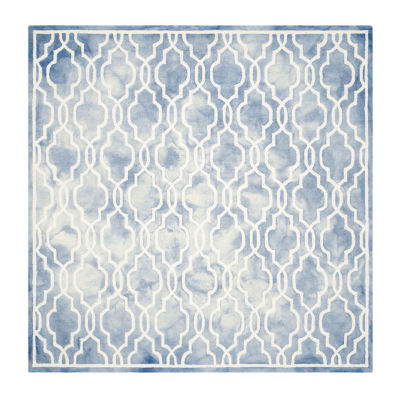Safavieh Dip Dye Collection Jalen Geometric Square Area Rug
