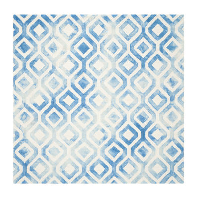 Safavieh Dip Dye Collection Lucian Geometric Square Area Rug