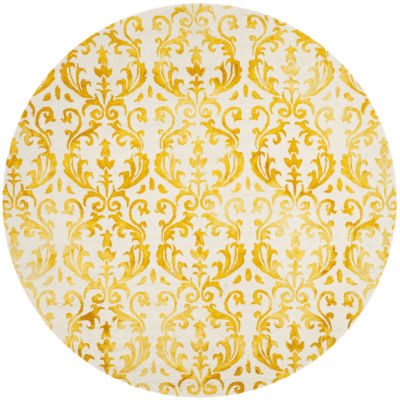 Safavieh Dip Dye Collection Mihail Floral Round Area Rug