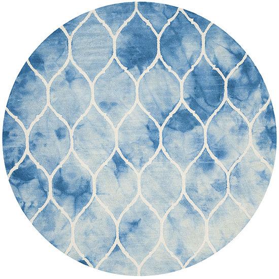 Safavieh Dip Dye Collection Nick Geometric Round Area Rug