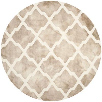 Safavieh Dip Dye Collection Petra Geometric Round Area Rug