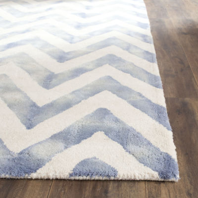 Safavieh Dip Dye Collection Ronnie Chevron Square Area Rug