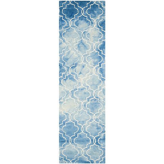 Safavieh Dip Dye Collection Serafim Geometric Runner Rug