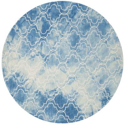Safavieh Dip Dye Collection Serafim Geometric Round Area Rug