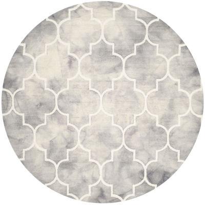 Safavieh Dip Dye Collection Sierra Geometric RoundArea Rug