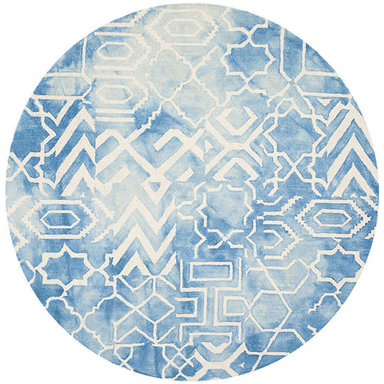 Safavieh Dip Dye Collection Venice Chevron Round Area Rug