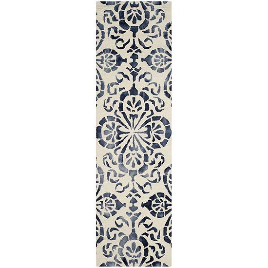Safavieh Dip Dye Collection Vivyan Floral Runner Rug