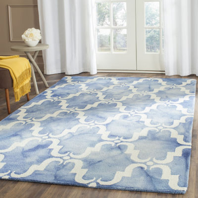 Safavieh Dip Dye Collection Wendell Geometric Square Area Rug