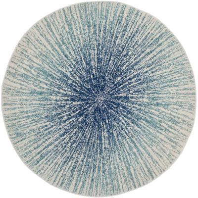 Safavieh Evoke Collection Aliya Abstract Round Area Rug