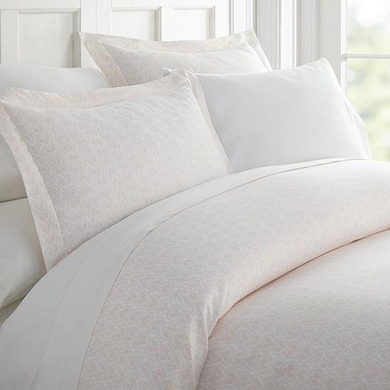 Casual Comfort Premium Ultra Soft Classic Pink Pattern Duvet Cover Set