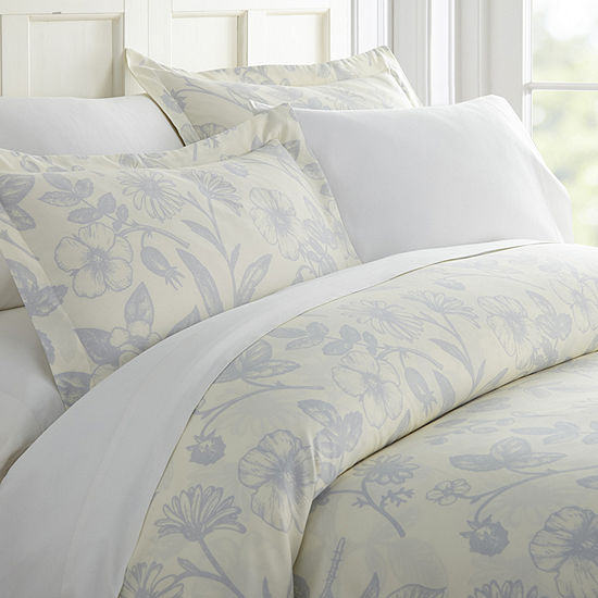 Casual Comfort Premium Ultra Soft Garden Pattern Duvet Cover Set