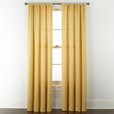 Home Expressions Stockholm Solid Light-Filtering Rod Pocket Curtain Panel