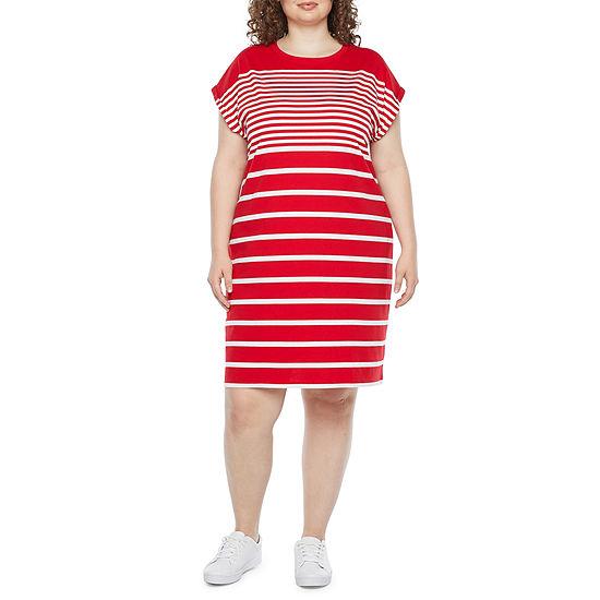 Liz Claiborne Short Sleeve T-Shirt Dress - Plus
