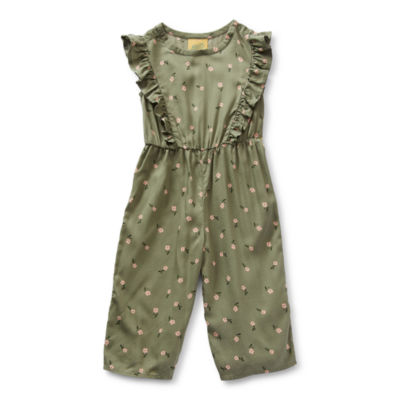 Thereabouts Toddler Girls Sleeveless Jumpsuit