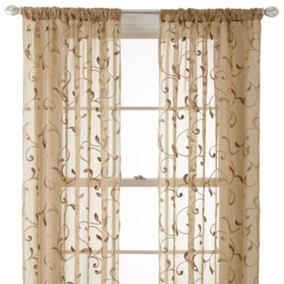 Royal Velvet® Harmon Rod-Pocket Sheer Panel