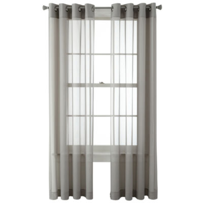 Home Expressions Kramer Grommet-Top Sheer Panel