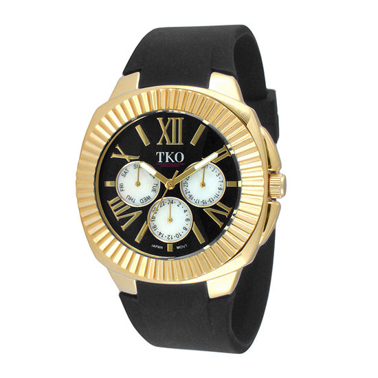 TKO ORLOGI Womens Black Silicone Strap Sport Watch