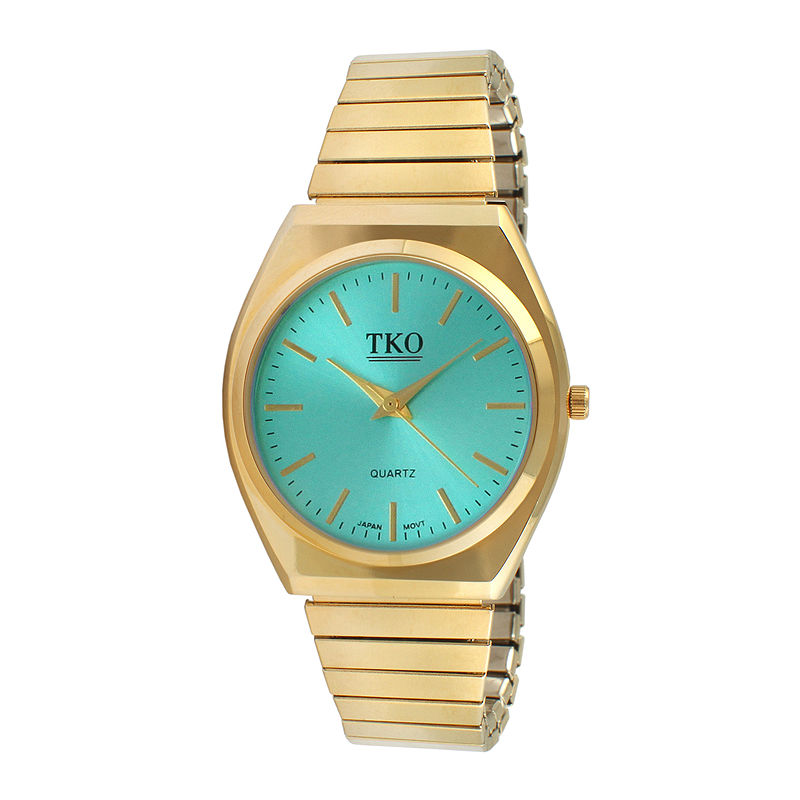 TKO ORLOGI Womens Light Blue Dial EZ Flex Expansion Bracelet Watch