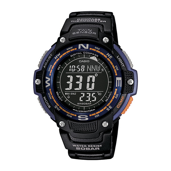 Casio® Twin Sensor Mens Compass/Thermometer Sport Watch SGW100-2B