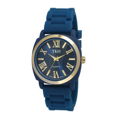 TKO ORLOGI Milano III Womens Blue Silicone Strap Watch