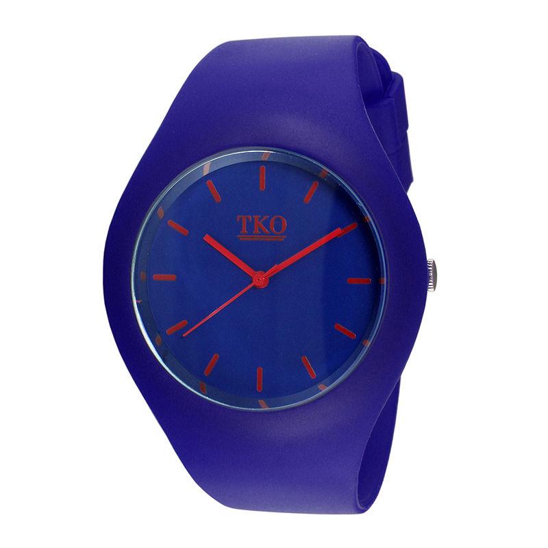 TKO ORLOGI Candy II Blue Silicone Strap Sport Watch