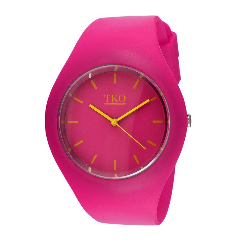 TKO ORLOGI Candy II Pink Silicone Strap Sport Watch