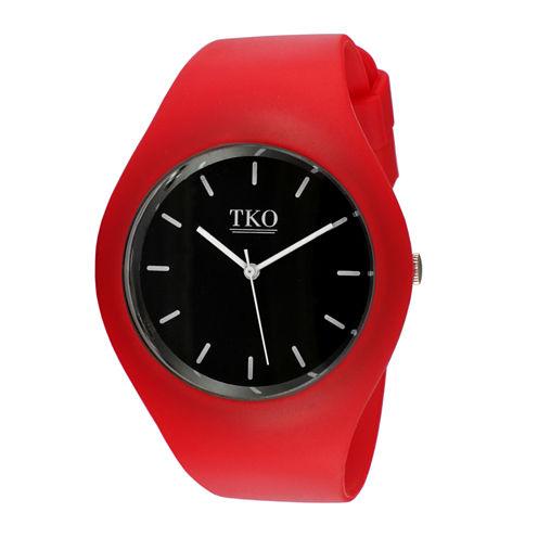 TKO ORLOGI Candy II Red Silicone Strap Sport Watch