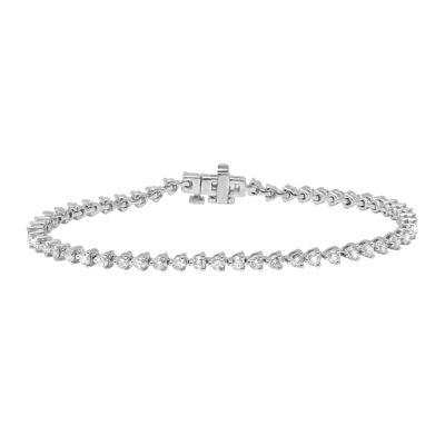 3 CT. T.W. Diamond 14K White Gold Tennis Bracelet