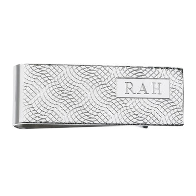 Personalized Snakeskin Pattern Money Clip