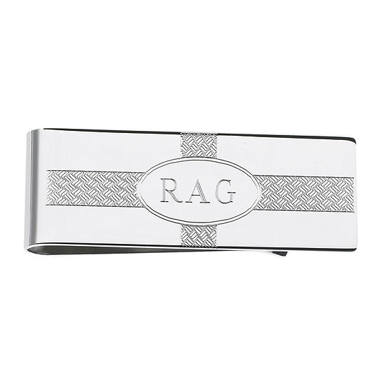 Personalized Wave Pattern Money Clip