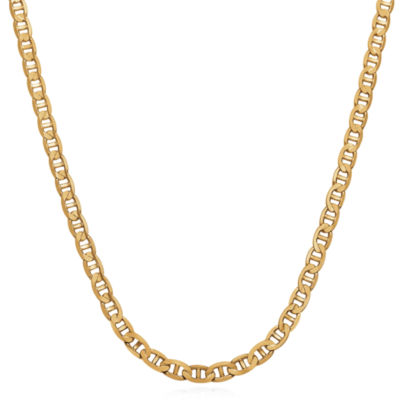Made In Italy Solid Link 22 Inch Chain Necklace