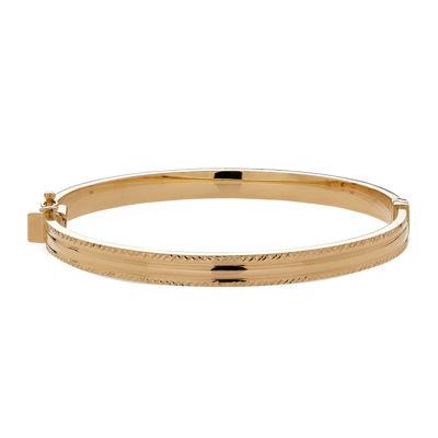 "14K Yellow Gold ""X"" Design Bangle Bracelet"
