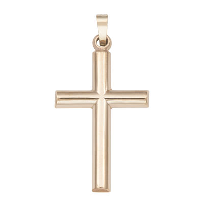 14K Yellow Gold Polished Latin Cross Charm Pendant