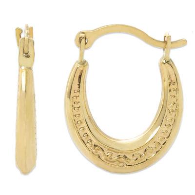 14K Gold 14.2mm Hoop Earrings
