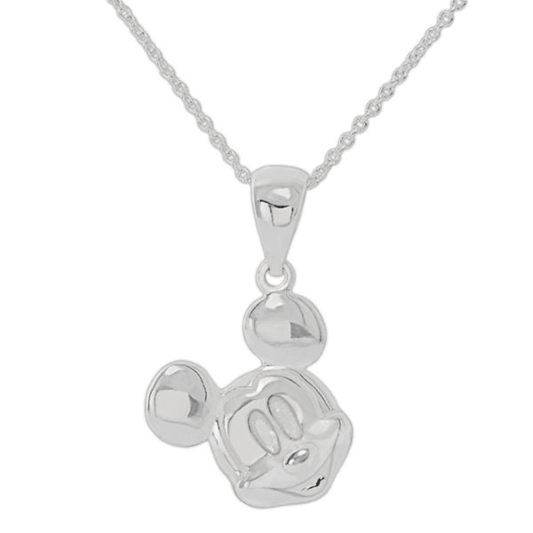 Disney Mickey Sterling Silver Pendant Necklace