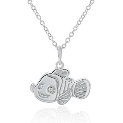 Disney Sterling Silver Dory Pendant Necklace