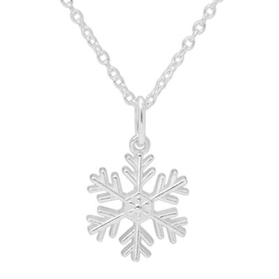 Disney Frozen Snowflake Sterling Silver Pendant Necklace