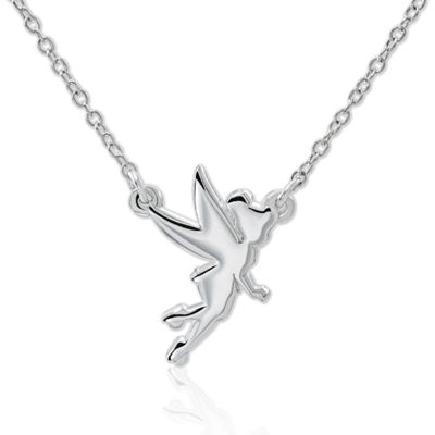 Disney Girls Sterling Silver Disney Fairies Pendant Necklace