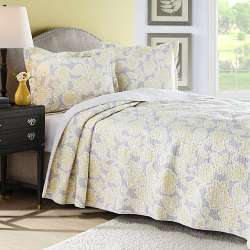 Laura Ashley Joy Floral Quilt Set