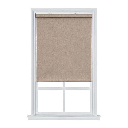 JCPenney Home Blackout Textured Cordless Roller Shade, One Size , Brown