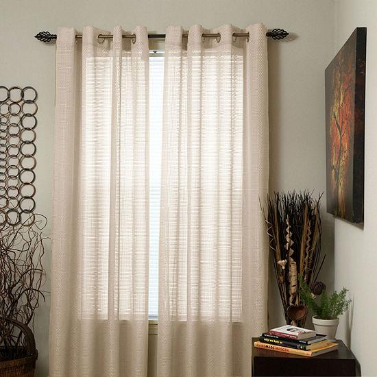Cambridge Home Olivia Light-Filtering Grommet-Top Single Curtain Panel