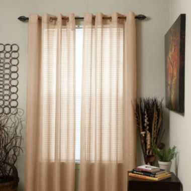 Cambridge Home Olivia Jacquard Grommet-Top Curtain Panel
