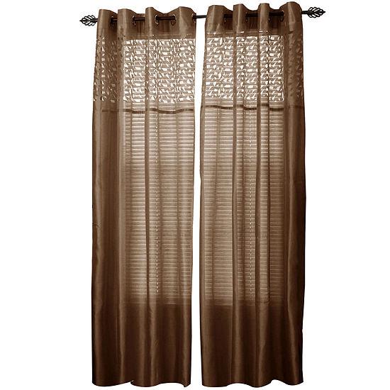 Cambridge Home Monica Grommet-Top Curtain Panel